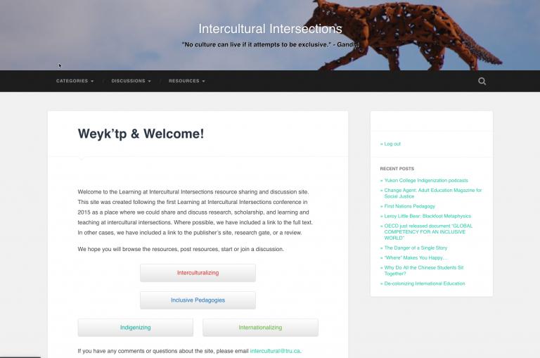Intercultural Intersections Website