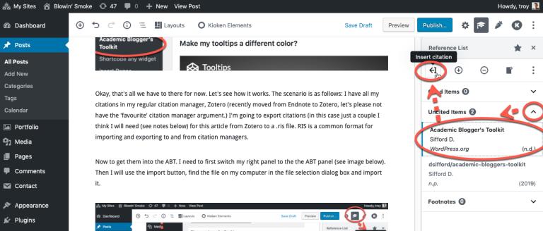 Plugin: Academic Blogger's Toolkit